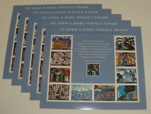 Five Sheets x 10 = 50 of TO FORM A MORE PERFECT UNION 37¢ US USA Stamps Sc# 3937