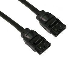 SATA 3 6 go long Plug câble SATA plomb 90cm + serrure données câble noir super rapide