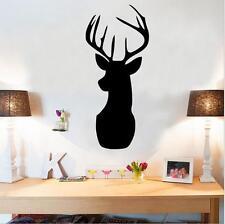 Removable Black Deer Elk Design Wall Art Sticker Home Decor DIY Kid Vinyl Santa