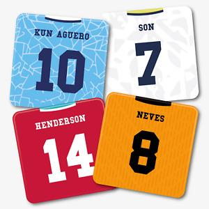 Personalised Football Shirt Coasters - Premier - Printed Acrylic - Home Kit