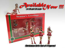 American Diorama Figurines - Christmas Girls. 1:18 scale girls in RED color. Set