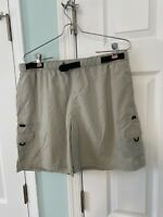 Columbia cargo fishing hiking shorts womens size large belted khaki Outdoor