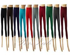 Womens Legging with Lace Black Blue Red Brown Grey Smart Short 3/4 Size 8 - 22