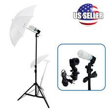 Continuous Lighting  Photo Studio One Umbrella Light Lamp Photography Stand Kit