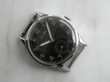 WWII German Helios Army Issue DH Military Watch 34mm AS1130 Unusual watch back