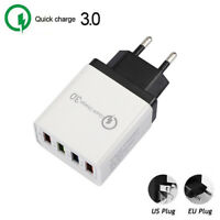 Travel Mobile Phone Wall EU US plug Adapter QC 3.0 USB Charger Quick Charge