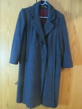 Vintage Women's Alorna Wool Coat Navy, Black double breasted EUC