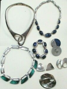 Mexico 925 Sterling Silver Jewelry Lot - 463 GRAMS