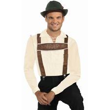 Lederhosen Adult Unisex Oktoberfest Grinch Costume Suspenders