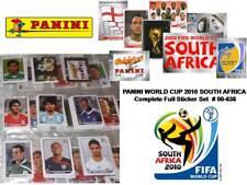 Panini Coupe du Monde 2010 Afrique du Sud complet Complet Autocollant Ensemble TOPPS Merlin Football