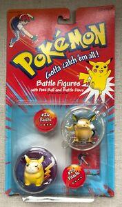 "Pokemon Hasbro Battle Tomy 2"" Figures, Authentic, Vintage, Sealed Pikachu Raichu"