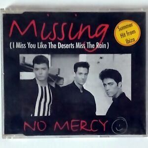 No Mercy - Missing (CD Single, 1985 Sony Music/Arista) Promo Copy