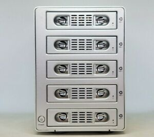 Dyconn Quartz 5 HDD RAID Enclosure 5 Trays eSata FireWire 400 800 Shock Proof