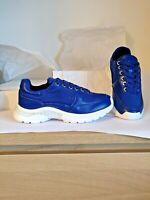BNIB Ladies Calvin Klein Leather Trainers Royal Blue UK size 2 EU 35  RRP £125