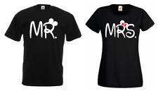 """Partner Pärchen Herren Damen T-Shirt Shirt Modell """"MR. & MRS. Mickey"""" BFF"""