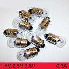 Miniature Round Physical Experiment Screw Small Light Bulbs 1.5V 2.5V 3.8V 0.3A