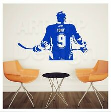 Wallpaper Home Decor ice Hockey Wall Sticker Poster Custom Name No Fan Gifts