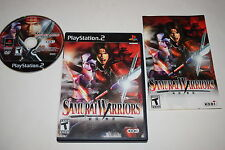 Samurai Warriors Sony Playstation 2 PS2 Video Game Complete