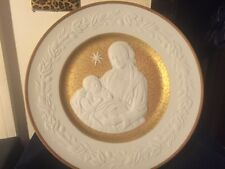 Franklin Porcelain Silent Night 1976 Christmas Plate Mother And Child