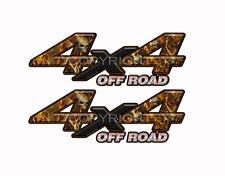 4X4 OFF ROAD BLAZE SKULL Obliteration Camo Decals Truck Stickers 2Pack KM005ORBX