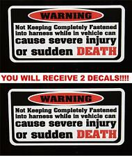 2 Warning Sudden Death Decal stickers Jeep CJ TJ MJ YJ JK CJ5 CJ7 CJ3 XJ