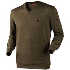 Harkila Jari Jumper V-Neck Merino Wool Pullover Sweater