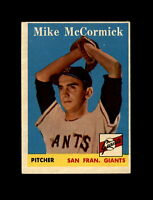 1958 Topps Baseball #37 Mike McCormick RC (Giants) EXMT