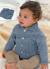 0138 Baby jacket and hat, size 16-26 in. in 4 ply knitting pattern.