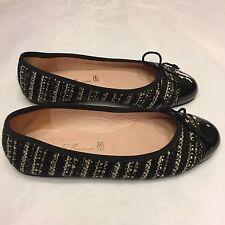 PRETTY BALLERINAS Rosario patent leather captoe tweed ballet flats shoes 36 UK 3