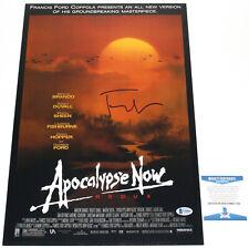 Francis Ford Coppola Signed 'Apocalypse Now' 12x18 Movie Poster Coa Beckett Bas