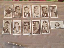 1933 Tobacco Cards U.K.Tobacco Cinema Stars Lot of 18 in Exc Condition