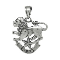 Leo Zodiac Jewelry Pendant Charm Sign Sterling Silver .925 Oxidized