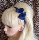 Hot Pink Grosgrain Ribbon Bow Hair Band Stretch Elastic Headband Girls Cute