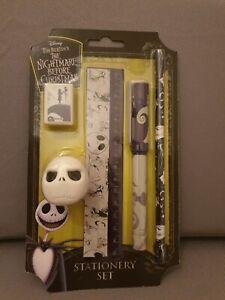 Official Nightmare Before Christmas Stationery Set Pen Pencil Eraser Ruler