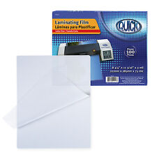 """3 Mil Laminating Pouches 100 Pack Letter Size 8.75""""x11.19"""" in Box- Heat Seal"""