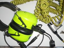 3M Peltor High Attenuation Ground Mechanic Hi Vis Headset &Extension Lead L5 3M1