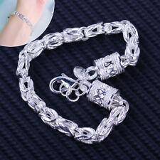 7mm Massives Silber Königsarmband Männer Armband Schmucksachen