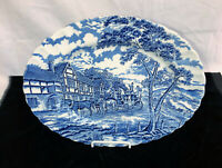 "Staffordshire Myott ROYAL MAIL *BLUE* 12 1/4"" X 9 1/2"" OVAL PLATTER"