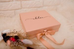 Medium Luxury Gift Box, Personalized Gift Box,Bridesmaid Proposal Wedding Favour