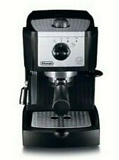 DeLonghi EC155  Espresso Machine Black With Frother and Built in Tamper Used