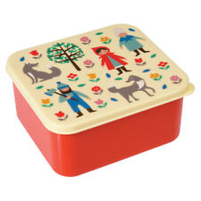 dotcomgiftshop PLASTIC LUNCH BOX WITH PUSH ON LID RED RIDING HOOD DESIGN