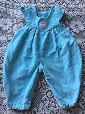 Vintage Toddler Girls Corduroy Jumper Blue Newborn Fisher Price