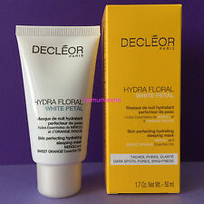 Decleor HYDRA FLORAL WHITE PETAL SKIN PERFECTING HYDRATING SLEEPING MASK 50ML ++