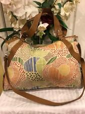 FOSSIL canvas floral leahter large duffle bagf  purse (pu500