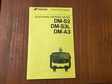 TOPCON EDM DM-S2 DM-S3L DM-A3 INSTRUCTION MANUAL SURVEYING