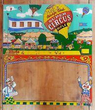 Ancien collection vitre glace facade plaque flipper cirque circus Chicago coin's