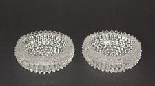 Clear Hobnail Coasters, Set of 2 Glass Hobnail Coasters