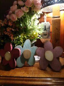 Wooden flowers set 3