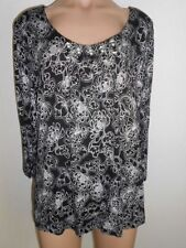 Regular Floral Tunic 3/4 Sleeve Tops & Blouses for Women