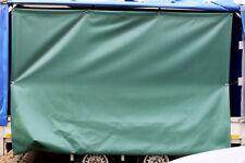PVC Plane Grün Licht durchlässig  3.00 x 3.00 Meter mit Ösen Sichtschutz